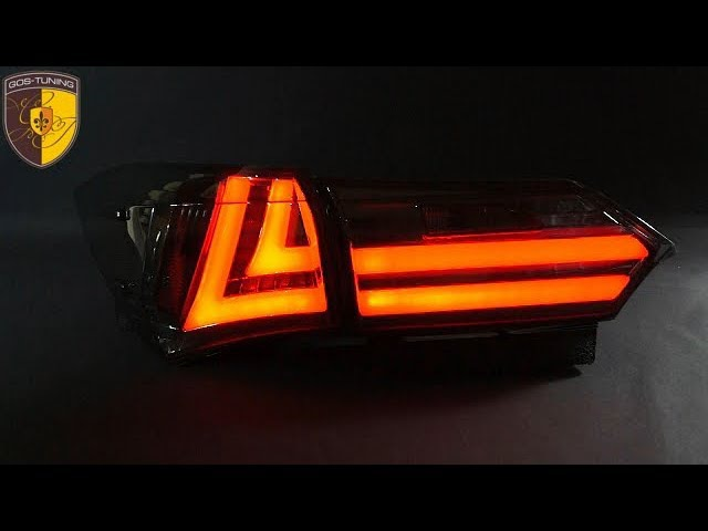 Тюнинг задние фонари Lexus Style на Тойота королла Taillights Toyota Corolla E160 E170 Черные