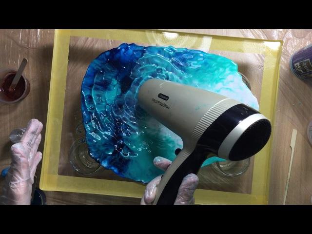 369 Resin pour on plexiglass with resi blast