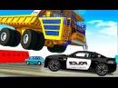 Мультики про машинки - Полицейские машины и Белаз. Видео для мальчиков новые сер ...