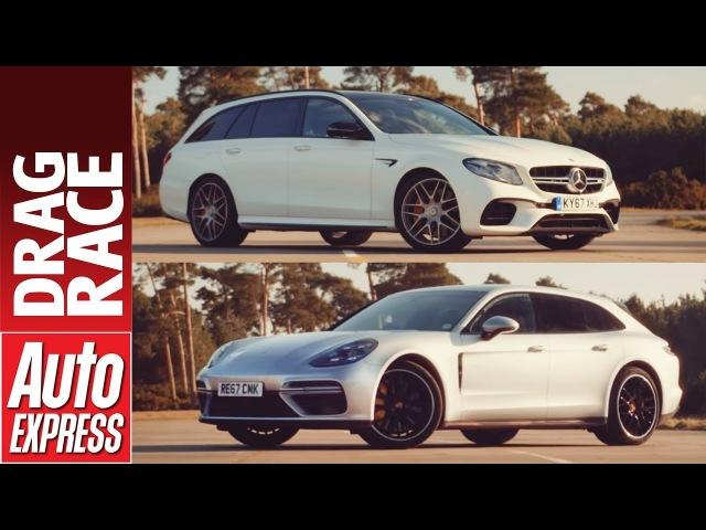 Mercedes-AMG E 63 S Estate vs Porsche Panamera Turbo Sport Turismo drag race