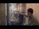 Коллекторный водопровод, гидросмывные фильтра, нержавеющая сталь. Монтаж трубами REHAU.