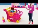 Видео для девочек Шопкинсы и Маша Капуки собирают магазин