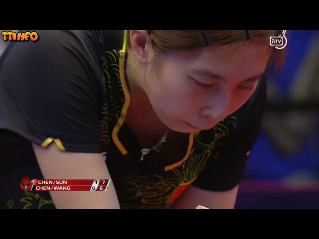 【卓球】Chen Xingtong/Sun Yingsha vs Wang Manyu/Chen Ke (Hungarian Open 2018) WD FINAL