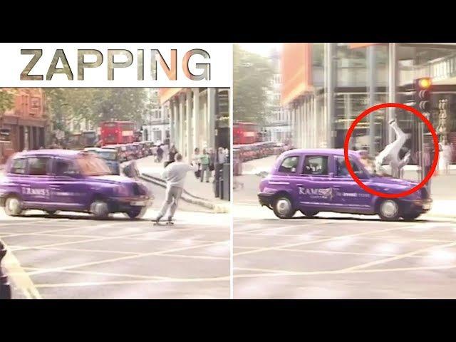 Zap Extrême : le skateur Blondey McCoy se fait percuter par une voiture !