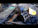 В Керчи сотрудники таксопарка вытолкали машину из горящего бокса