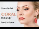 TUTORIAL 3D CORAL MAKEUP OMBRÉ LIPS Emese Backai makeup trainer