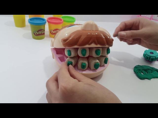 Плэй до Пластилин Дантист Зубастик Стоматолог | Play Doh Dr Drill