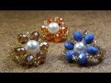 Hermoso Anillo con Perla y Cristales...Clase #86!!
