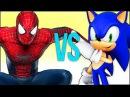 SONIC VS SPIDER-MAN СУПЕР РЭП БИТВА Соник бум ежик ПРОТИВ Человек Паук фильм MARVEL spiderman