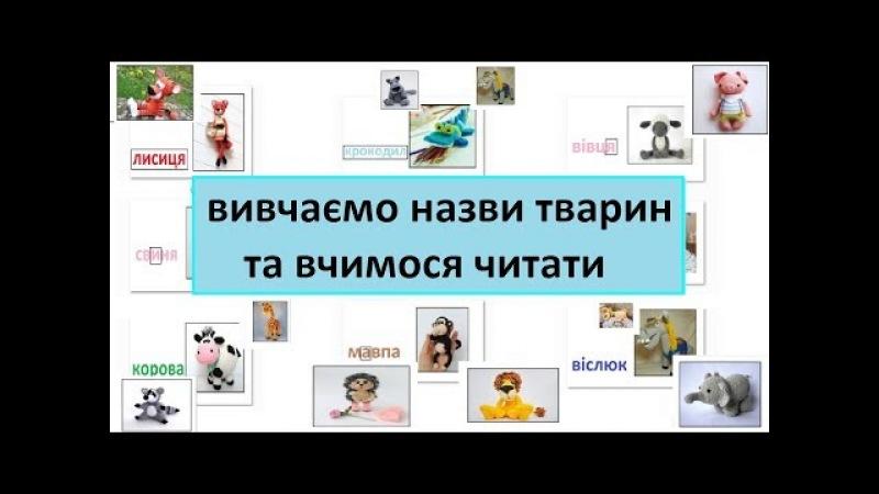 Вчимо назви тварин, літери та вчимось читати. Розвиваючий мультик українською для дітей