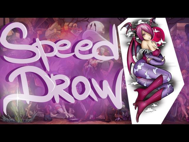 Anime Tattoo Design SPEED DRAW - Lilith | Tony Tattoo 6