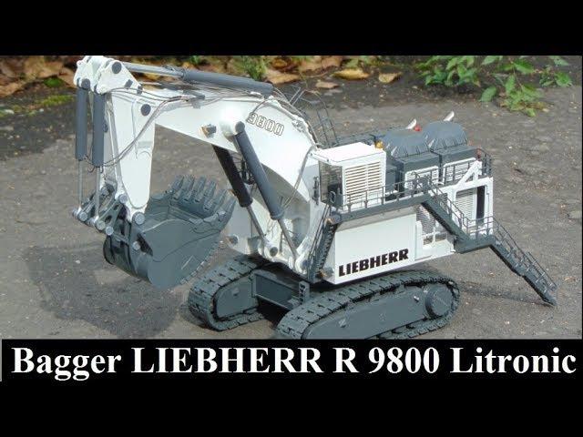 RC Bagger LIEBHERR 9800 Litronic Электрификация масштабных моделей Проект Динамика 60