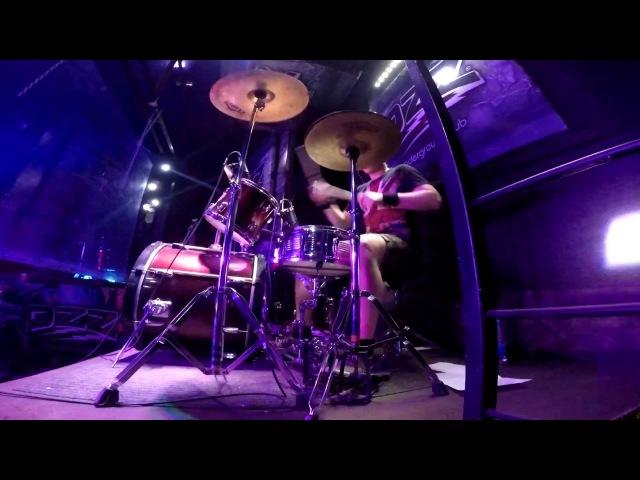 Burn - (Deep Purple cover)- Drumcam | гр.Раскол, клуб OZZ г.Челябинск