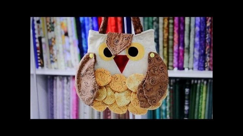 Bolsa da corujinha V - Patchwork - Maria Adna - Cursos e aulas de bolsas e patchwork