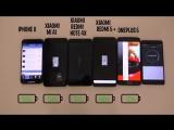 Кто дольше держит батарею: IPhoneX, Xiaomi Redmi 5 PLUS, Xiaomi Redmi Note 4X, Xiaomi MI A1 или ONEPLUS 5?