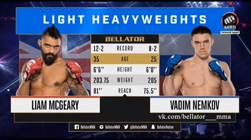Liam McGeary vs Vadim Nemkov Лиам МакГири vs Вадим Немков