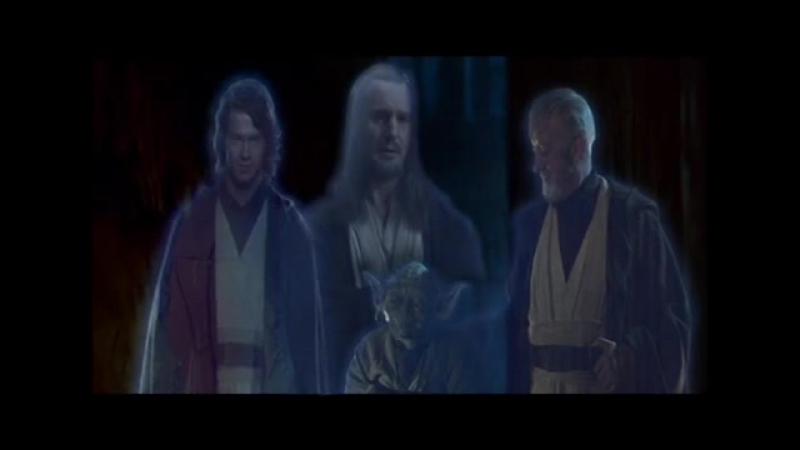 Alternative OST Return of the Jedi Ending Приход Души К Люку Квайгон Обиван Энакин Ёда