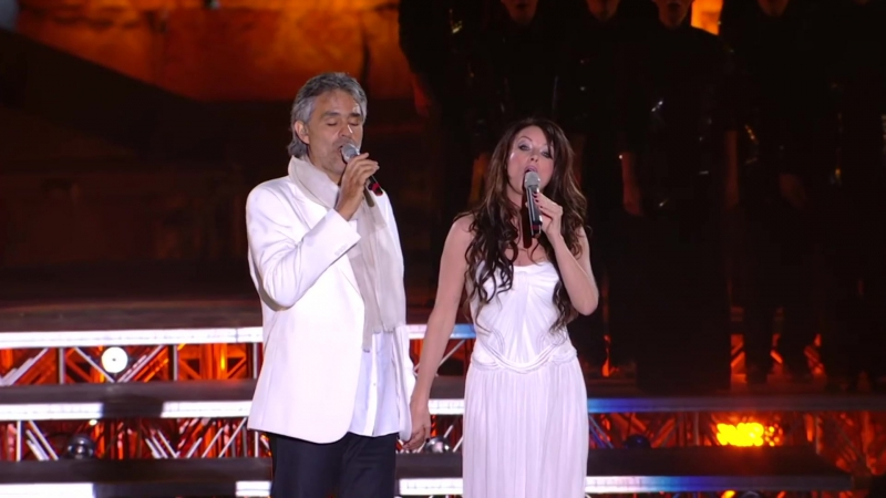 Andrea Bocelli and Sarah Brightman -