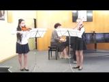 Вивальди концерт для двух скрипок и фортепиано.Am. I-я часть.