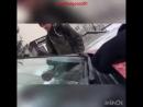 Наезд авто на студента в Белгороде, съёмка с капота авто.