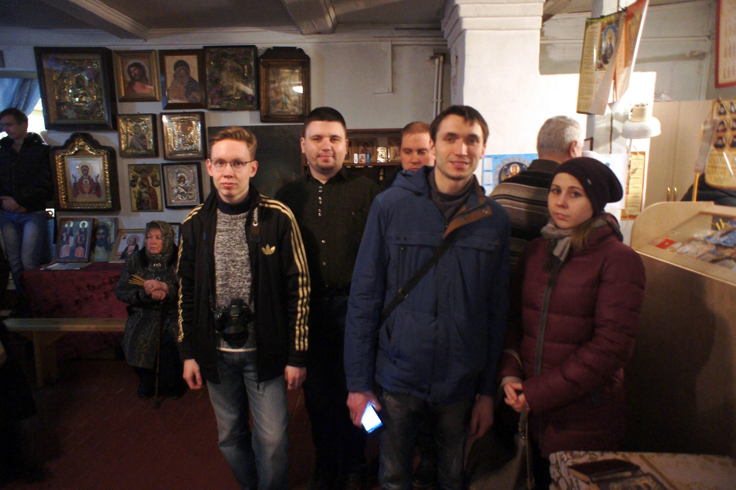 Ночная пасхальная служба в д. Черногубово
