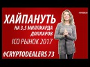 Биткоин пробил 8000$. Ripple вырос на 25%. American Express. Рынок ICO 3,5 млрд $.Cryptodealers NEWS