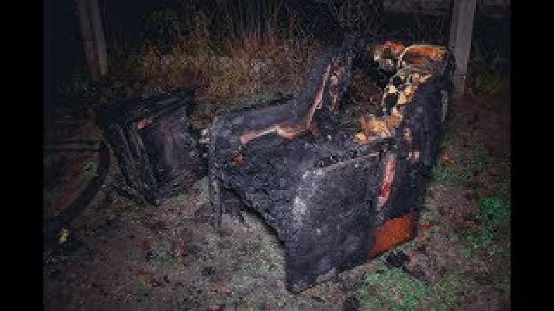 Большой пожар на Житомирской трассе: жилой дом сгорел дотла