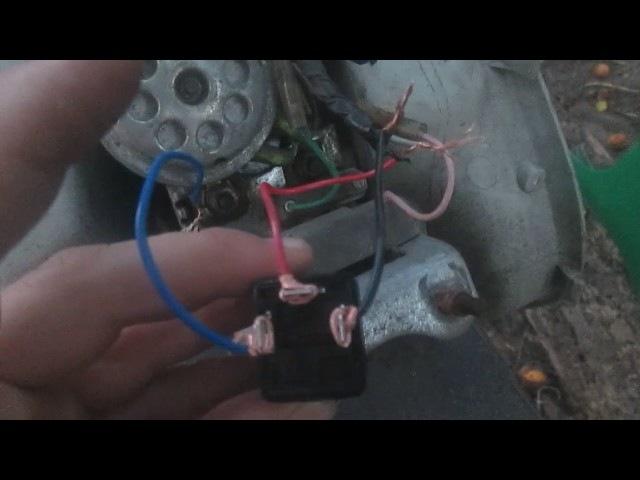 Замена реле поворотов скутера на реле от жигулей