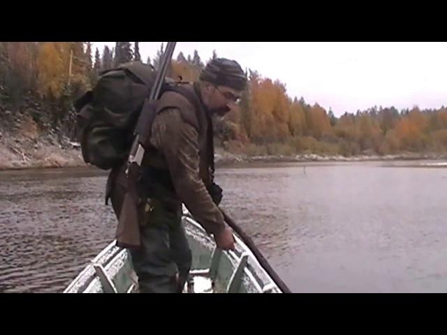 Поздняя осень 2013г., лов налима на р Вашка.