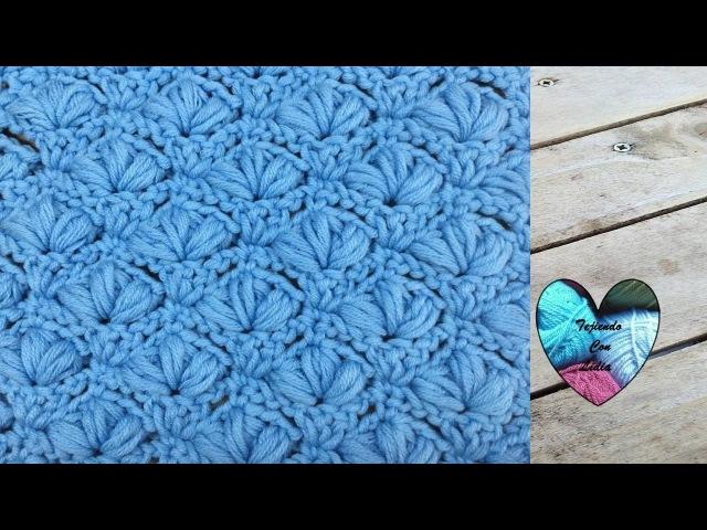 Punto en relieve tejido a crochet muy lindo facil