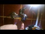Ремонт смесителя в ванной. Кнопочный  (вытяжной) дивертер.