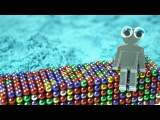 Playing with 1000 mini magnetic balls! (pt. 3, Kinetic sand, Bucky balls and Oddly satisfying ASMR!)