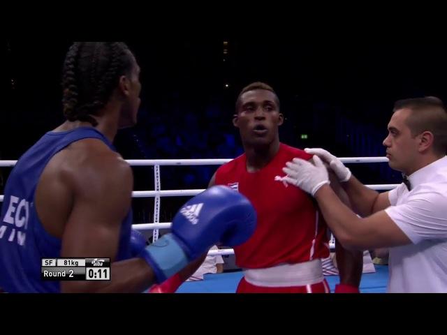 AIBA Hamburg 2017 LA CRUZ Julio CUB vs MINA CAICEDO Carlos ECU (81kg) 1/2 final