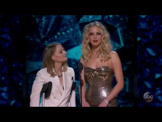 Jodie Foster and Jennifer Lawrence Present the Oscar 2018 Best Actress Nominees