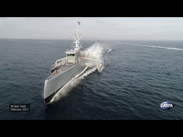 Anti-Submarine Warfare (ASW) Continuous Trail Unmanned Vessel (ACTUV) Post-Christening Highlights