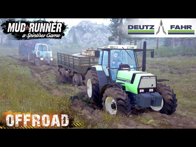 Spintires: MudRunner DEUTZ FAHR AGROSTAR 6.61 TRACTOR OFF-ROAD TEST