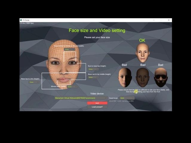 Facial mocap software f-clone 2 minutes tutorial(updated)