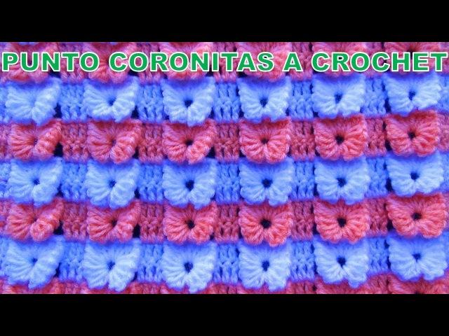 Punto a crochet Coronita para colchitas o mantitas de bebe