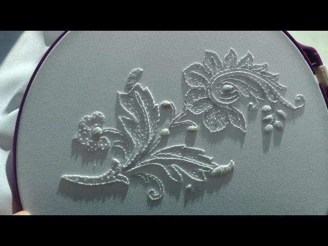 Hand Embroidery White Work   Вышивка Белая гладь