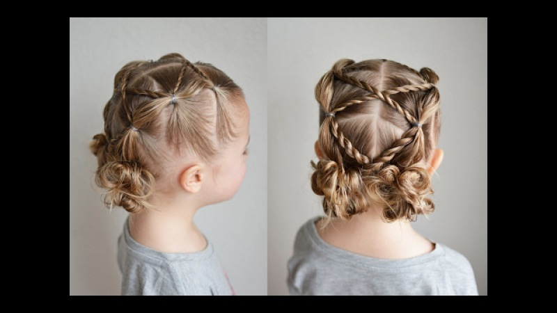 Messy Bun Bubble Pigtails with Rope Braid Accents | Qs Hairdos