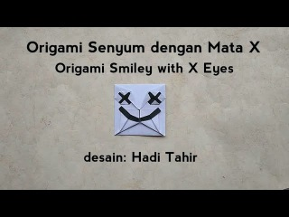 Origami X Eyes Smiley (marshmello helmet/mask) Tutorial