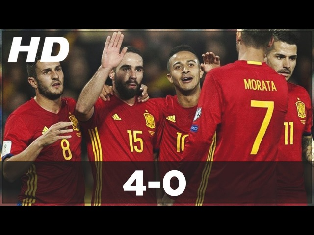 Spain vs Macedonia 4-0 ►All Goals Highlights - World Cup Qualifiers 2016 ● (12/11/2016) HD.