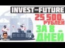 InvestFuture Большие проценты за короткий срок Вывел уже более 25 000 рублей ArturProfit