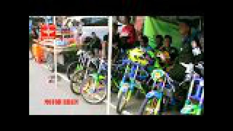 SERU ! Begini Suasana Jelang Balapan HIGAM Drag Bike Mojokerto 2018