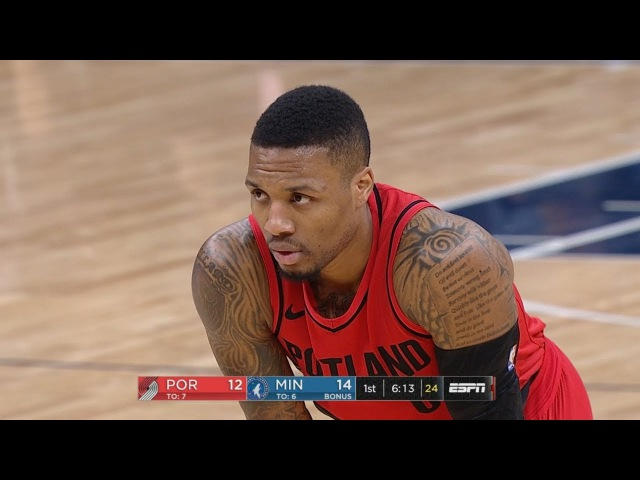 Portland Trail Blazers vs Minnesota Timberwolves 1st Half Highlights Jan 14 2017 18 NBA Season