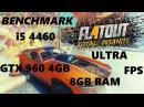 FlatOut 4 Total Insanity BENCHMARK i5 4460 GTX 960 4GB 8GB
