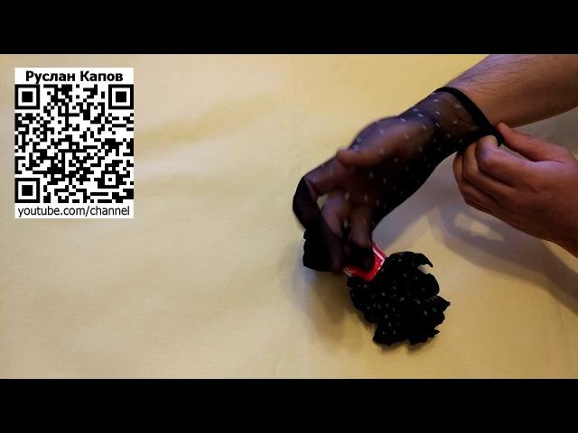 Носки капроновые в горошек черная основа светлый горох. Посылка из китая.