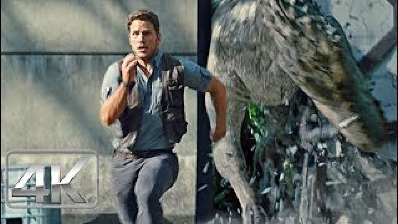Indominus Rex Escapa - LATINO (4K-HD) | Jurassic World (2015) |