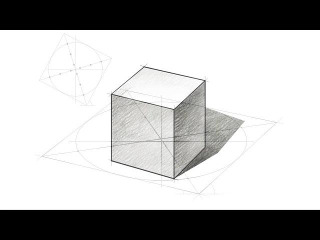 Как нарисовать куб правильно? / How to draw a cube correctly?