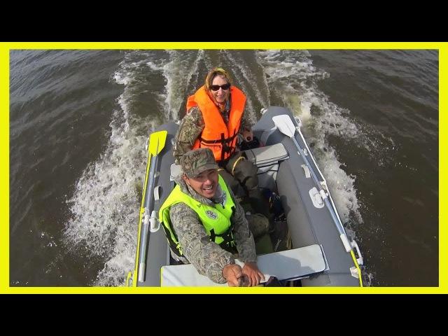 Лодка Гладиатор 370AL Мотор SUZUKI 9,9 л/с Семейный выезд на рыбалку, река Амур. Дальний Восток.